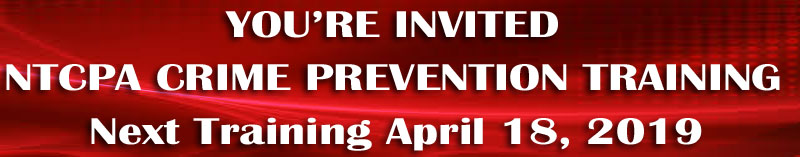 Upcoming NTCPA Training April 18, 2019