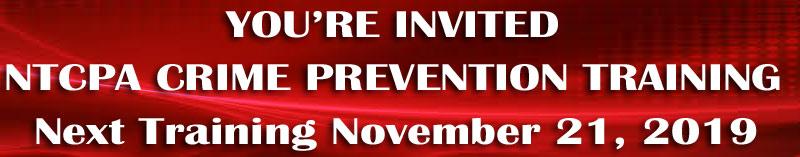 Upcoming NTCPA Training November 21, 2019